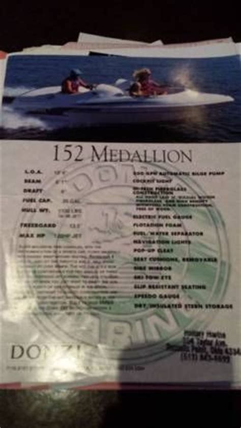 Donzi Jet Boat Engine by Donzi 152 Medallion Jet Boat 1994 For Sale For 5 900