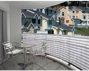 Balkonverkleidung Stripes 500 X 90 Cm Grau Wei Bei