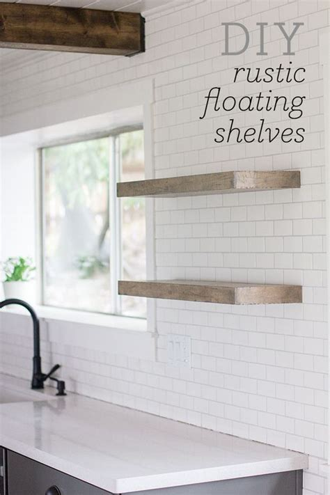 easy diy floating shelves decorating  small space
