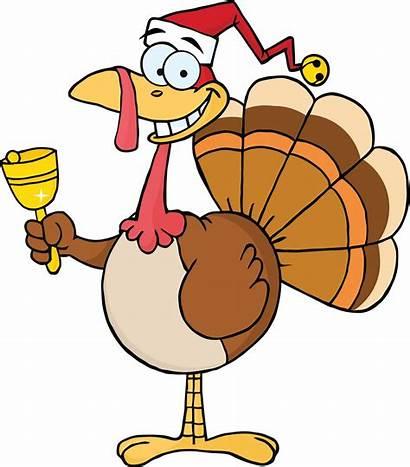 Turkey Christmas Clipart Thanksgiving Ringing Dinner Bell