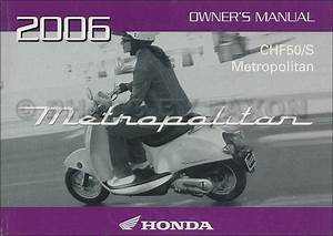 2005 Honda Metropolitan Scooter Owner U0026 39 S Manual Original