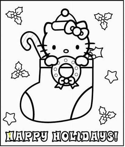 Kitty Hello Coloring Colorear Angel Printable Dibujos