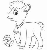 Lamb Coloring Easter Vector Vectorstock Royalty Credit Larger Curly sketch template