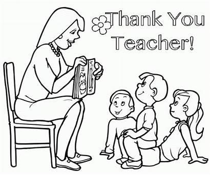 Teacher Coloring Thank Appreciation Teachers Printable Colorear