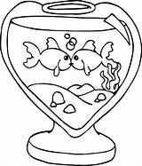 Fish Coloring Tank Kissing Heart Bowl Shaped Drawing Jumping Printable Colorings Getdrawings Getcolorings Rainbow sketch template