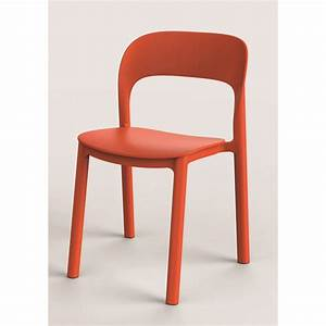 chaise de jardin en resine injectee ona orange leroy merlin With leroy merlin chaise jardin
