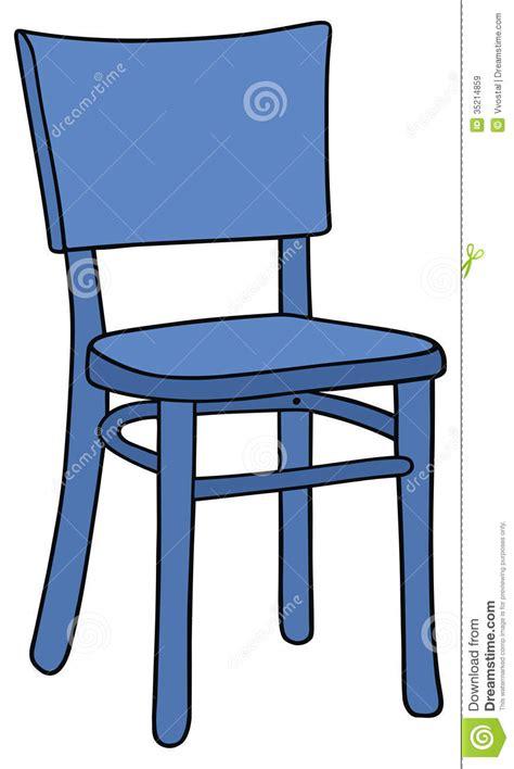 dessin d une chaise chaise bleue images libres de droits image 35214859