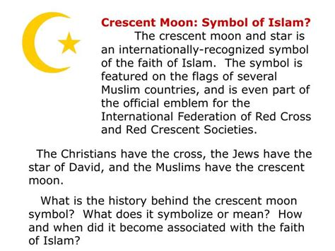 crescent moon icon in messages what does it macreports ppt islam history customs and religion part four