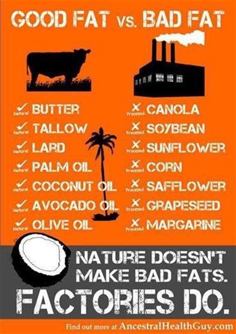 good list  good fats  bad fats    bad fats