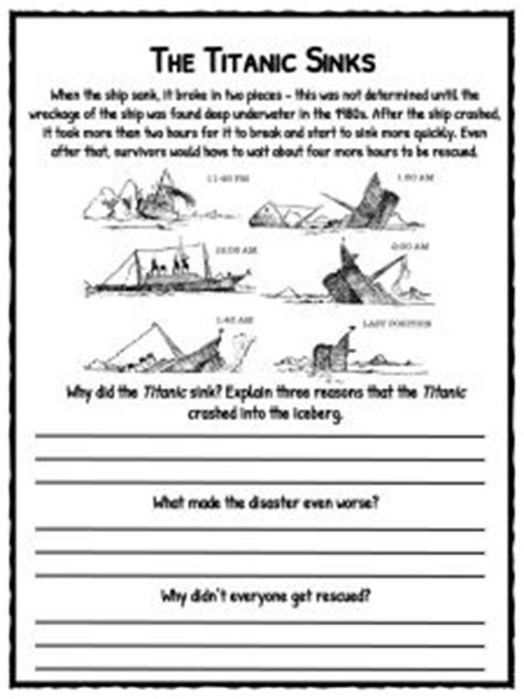 titanic facts worksheets history  kids