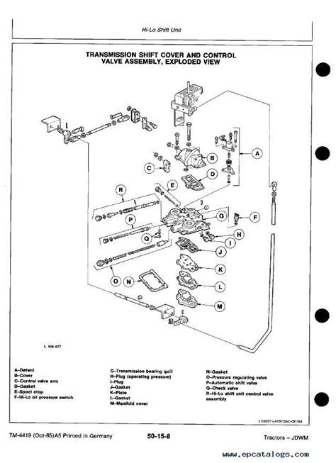 john deere  tractor tm technical manual