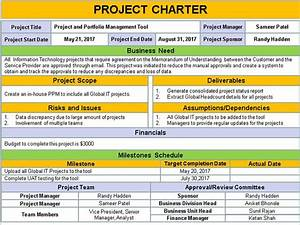 Project Charter Template Ppt Download