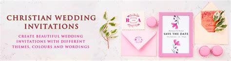 christian wedding invitation video card  gif