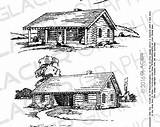 Cabin Clipart Printable Webstockreview Copyright Illustrations sketch template