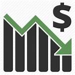 Down Money Profit Graph Icon Dollar Finance