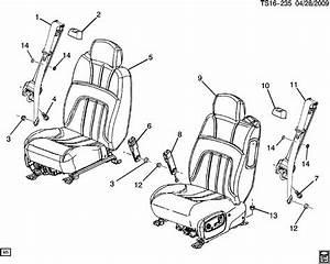 Chevrolet Trailblazer Belt  Seat Belt  Belt  D  Seat  Retr