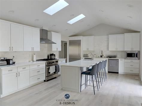 sherwin williams pure white cabinets paint colour review sherwin williams pure white sw 7005 309 | Kylie M Interiors Edesign Classic Gray Collingwood Sherwin Williams Pure White cabinets Mindful Gray island white washoak floor 1024x768