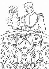 Prince Coloring Cinderella Charming Talking Pages Print sketch template