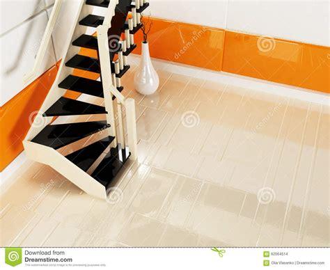 escaliers noirs et blancs dans la salle vide illustration stock image 62064514