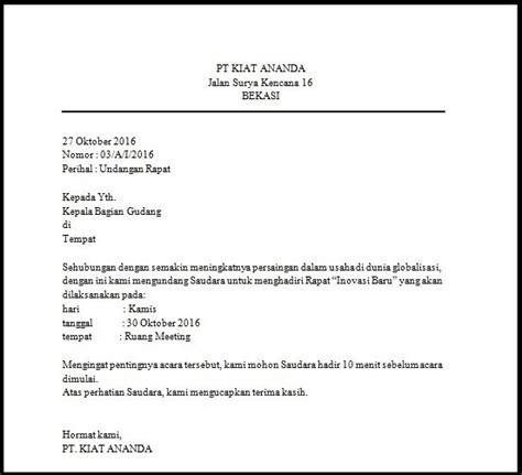 contoh surat block style undangan rapat bagi info
