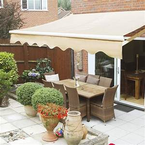 12 U0026 39  X 10 U0026 39  Ft  Manual Retractable Patio Awning Deck Sun