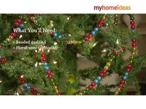 decorating a tree with beaded garland youtube