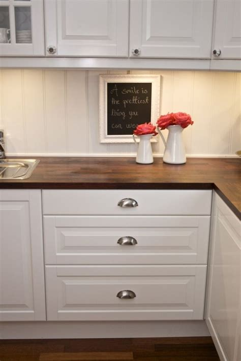white cabinets with wood countertops wood backsplash home ideas pinterest