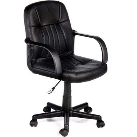 leather mid back office chair multiple colors walmart com