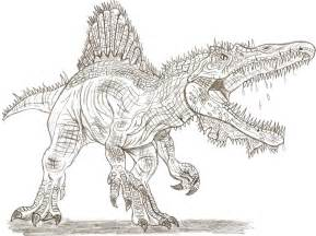spinosaurus coloring pages to and print for free