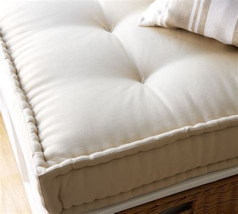 tufted french mattress edge cushion sit