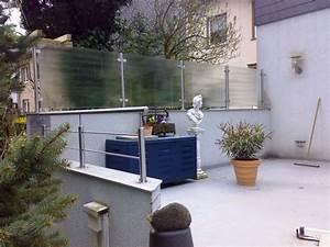 Sichtschutz Balkon Glas : sichtschutz aus satiniertem glas mit edelstahl pfosten metallbau bochum wattenscheid ~ Indierocktalk.com Haus und Dekorationen