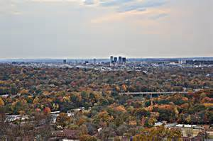 photographers in birmingham al downtown birmingham alabama from ruffner mountain a