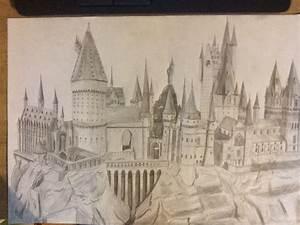 Hogwarts Castle Drawing by Chaoslink1 on DeviantArt
