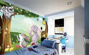 decoration murale papier peint personnalise tapisserie With tapisserie chambre d enfant