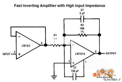 Fast Inverting Amplifier With High Input Impedance Circuit