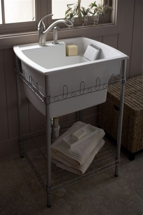 Kohler Utility Sink Stand by Faucet 996 96 In Biscuit By Sterling