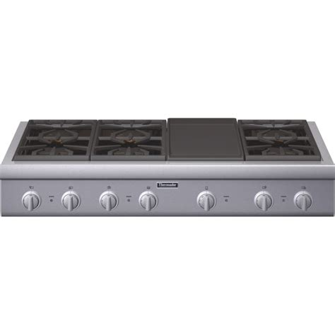 thermador gas cooktop thermador pcg486gd 48 quot 6 burner cooktop