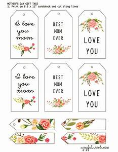 Mother's Day Gift Tags   Free Printable Friday   A Joyful Riot