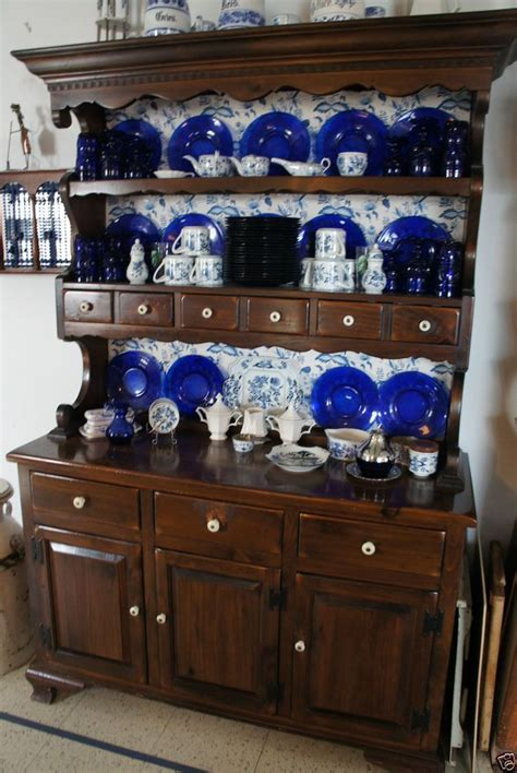 vintage china hutch ethan allen solid wood vintage china  vintage china