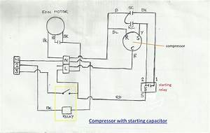 Condenser Compressor Wiring Diagram  Basic Air Compressor
