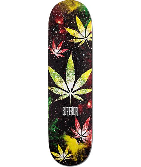 "Superior Weed Galaxy 825"" Skateboard Deck"