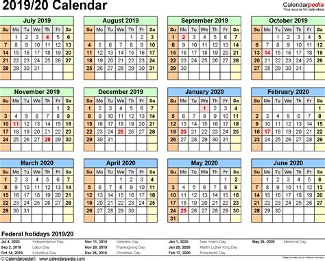 australian financial year calendar template