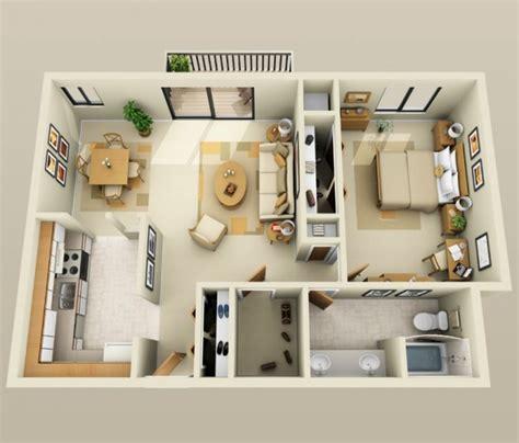 3d chambre 50 plans en 3d d appartement avec 1 chambres