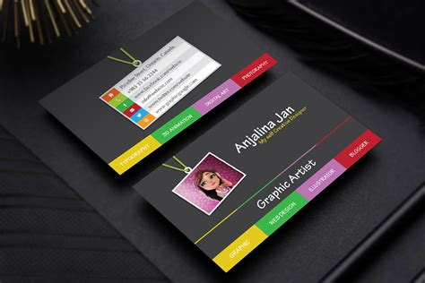 graphic artist business card template designgraphic