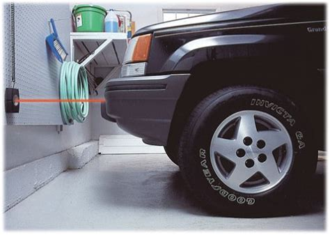 garage car stop park zone precision parking stop light system aid for