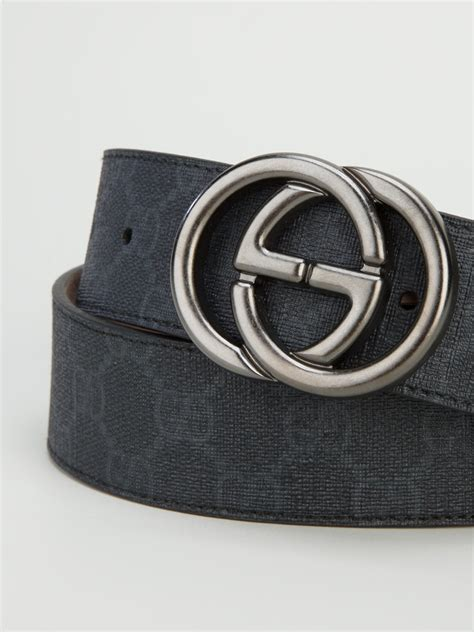 lyst gucci ssima belt  gray  men