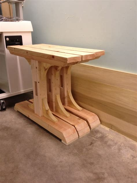 ana white double pedestal farmhouse table  feet diy