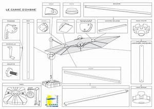 Toile De Rechange Pour Parasol Déporté : parasol aluminium carr d port gamme carre d 39 ombre ~ Dailycaller-alerts.com Idées de Décoration