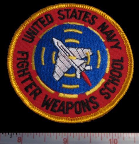 top gun  navy fighter weapons school logo patch