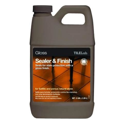 saltillo tile sealer home depot custom building products tilelab 1 2 gal gloss sealer and